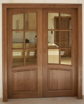 Fabrication et installation de portes d 39 int rieur i for Porte interieur en bois